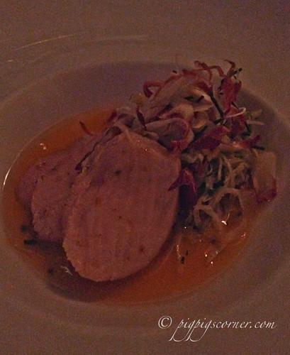 Blu, Shangri-La Hotel Singapore pork