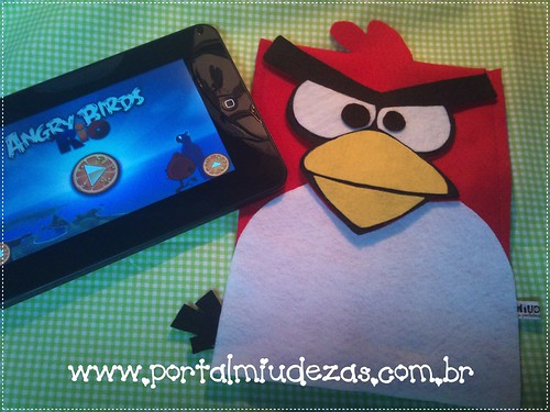 Case Tablet Angry Birds Vermelho by miudezas_miudezas