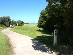 Sentier de Sperone : fin de la traversée du golf