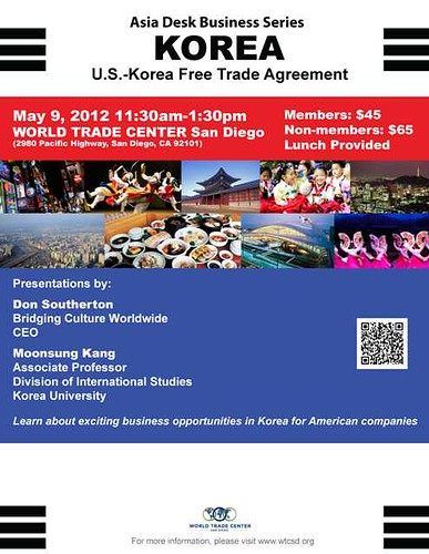 San Diego World Trade Center KORUS FTA Event