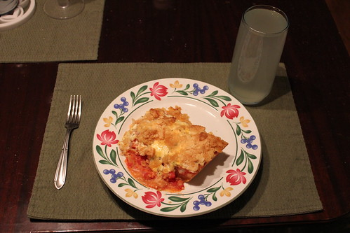8:27 PM: Tomato Pie for supper