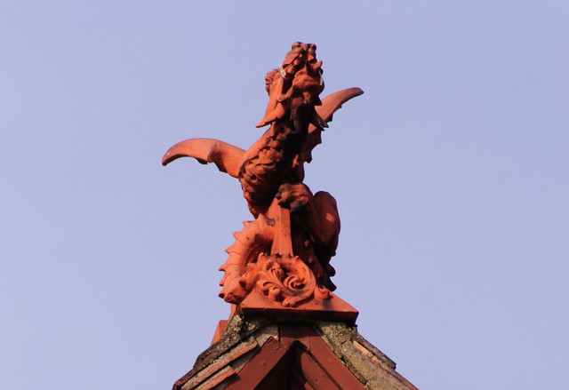 The roof dragon yawns