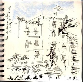 El Rastro desde la calle de la Ruda; Madrid