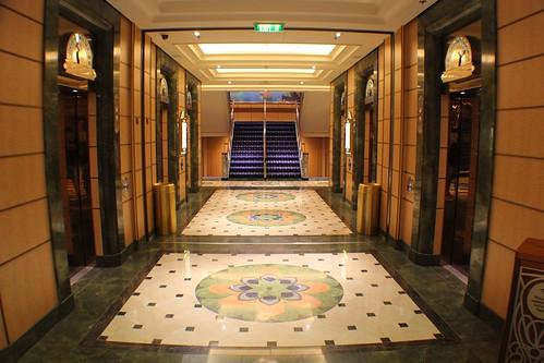 Disney Fantasy Atrium elevators