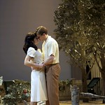 Diane Davis as Ann Deever and Lee Aaron Rosen as Chris Keller in the Huntington Theatre Company production of ALL MY SONS playing at the BU Theatre. Part of the 2009-2010 season.