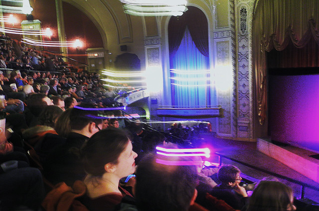 Film Festival Magic: Swooshes of Light Streak Overhead in Packed Orpheum Balcony