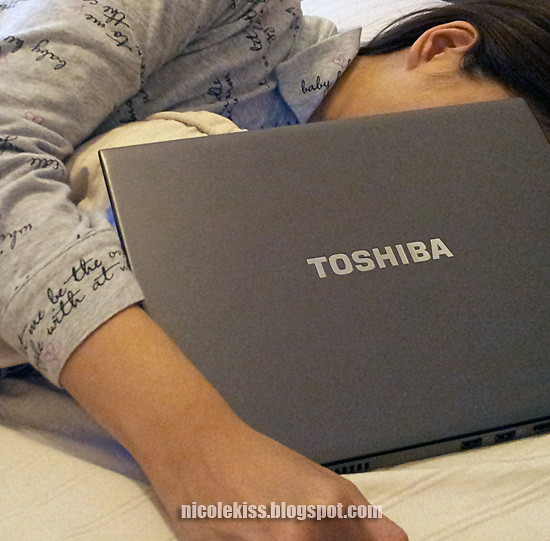 sleeping with toshiba