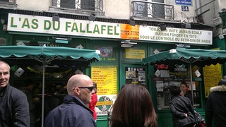 Falafel shops in Marais