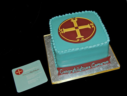 First Communion Cake designed to match invitation