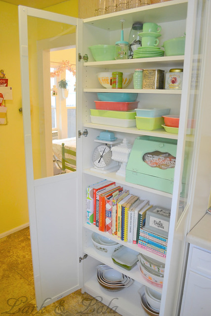 IKEA Bookcase for Pyrex