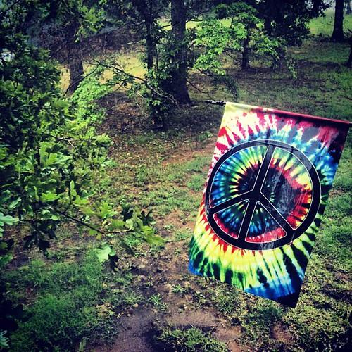 Peace in the rain