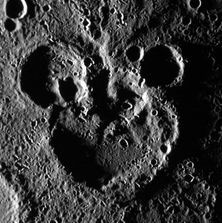 Mickey Mouse Spotted on Mercury! (NASA, MESSENGER, 06/03/12)