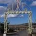 Arco hecho de pétalos del base de Sotol - Arch made of petals from Sotol trunks; entrada hacia Zapotitlán Palmas, Oaxaca, Mexico por Lon&Queta