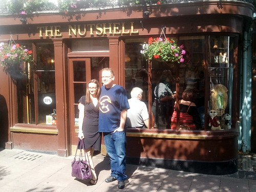 Jodie and Ian outside The Nutshell