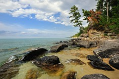 """Rocky Shores"" Beaver Basin Wilderness Pictured Rocks National lakeshore by Michigan Nut"