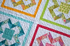 X Marks the Spot baby quilt
