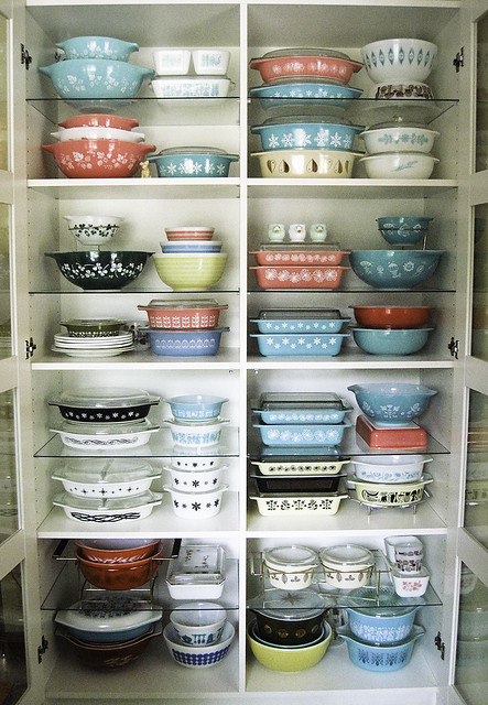 Updated picture of Pyrex display