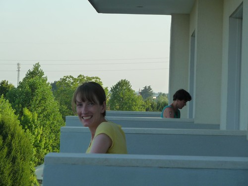 Jen G on the balcony