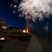 Fisheye fireworks by Northwest dad