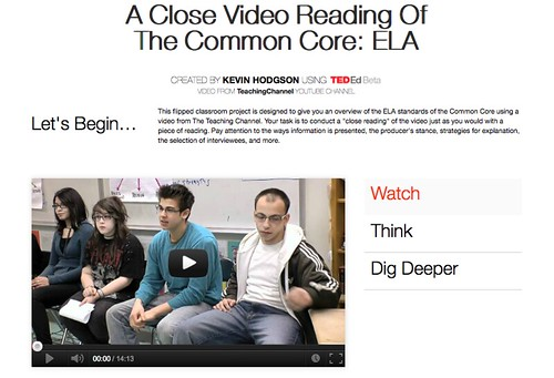 TED Lesson video reading