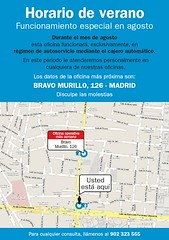 Horario verano oficinas de Banco Sabadell