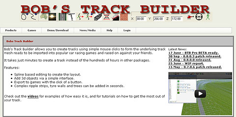 Bob's Track Builder Official Website