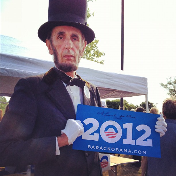 Even Honest Abe made it out to show his support for @barackobama! #obamaia