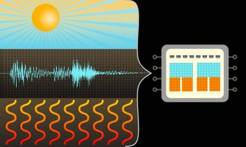 Автономный чип без батарейки использует энергию света, тепла и вибраций