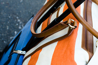 Project 365: Day 188 - Luggage in Orange and Blue