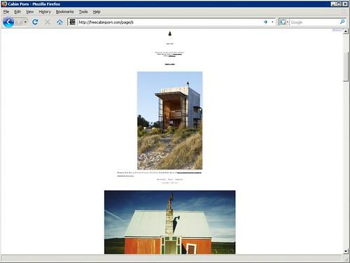 Webseite für Hütten, Schuppen und Baumhäuser. Screenshot