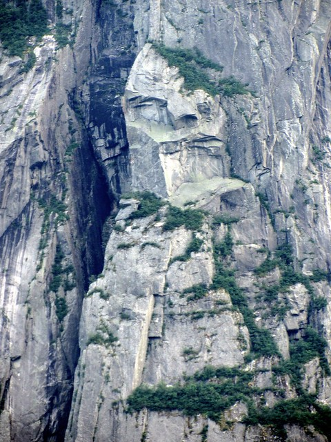 Face in the Rock on Western Brook Pond