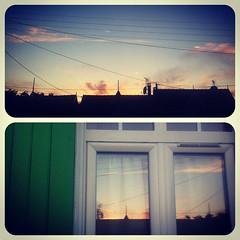 Devant Derrière #PicFrame #sunset #shadows #reflection #sky