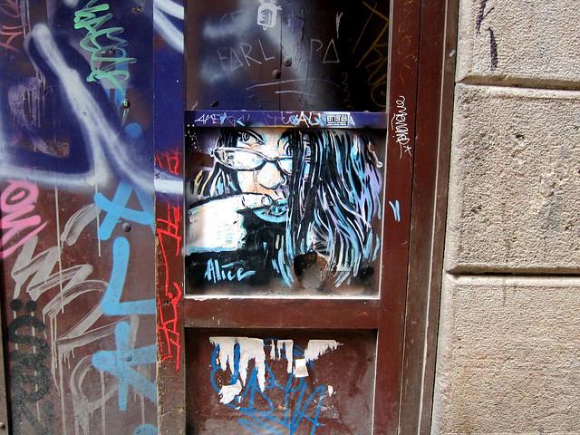 streetart | alice | barcelona 2012