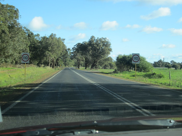 110 on the road to Margaret River