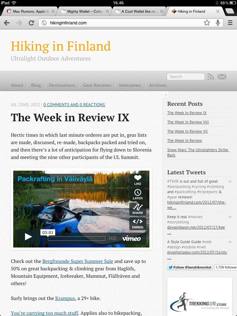 hikinginfinland.com now runs on Octopress!