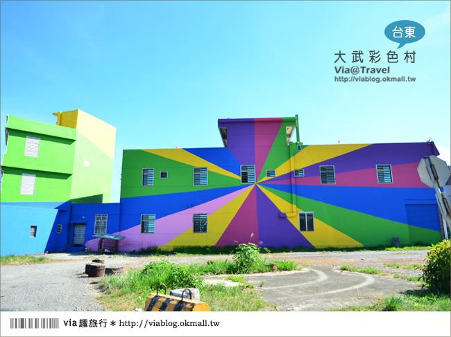【台東新景點】台東大武彩虹街~全台最夢幻的彩色街弄!4