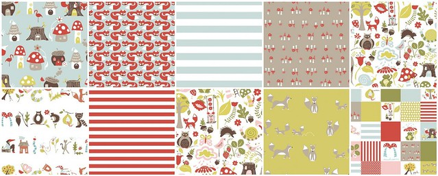 Fox Hollow by Monaluna for Friday's Fabric Giveaway with Moona Fabrics!!