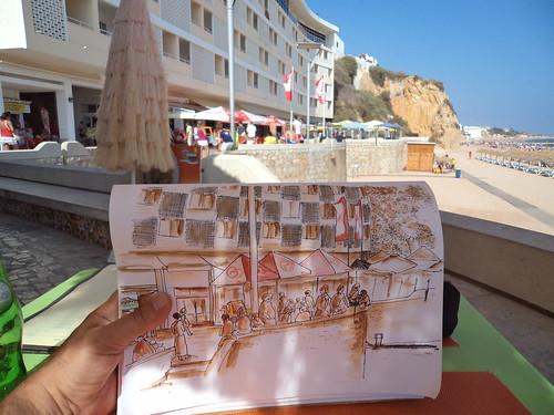 2012-07 hotel Sol e MAr, praia do Peneco, Albufeira