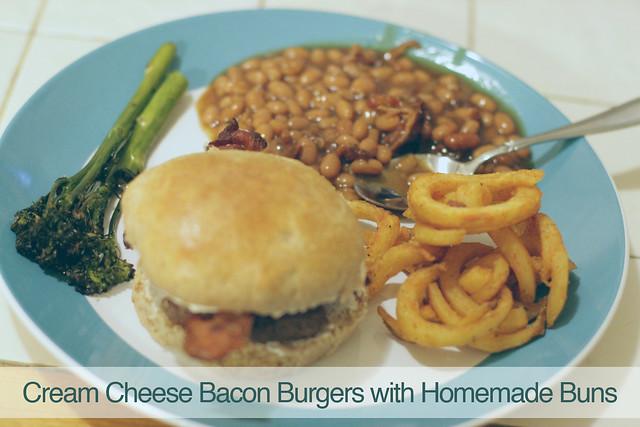 Cream Cheese Bacon Burgers