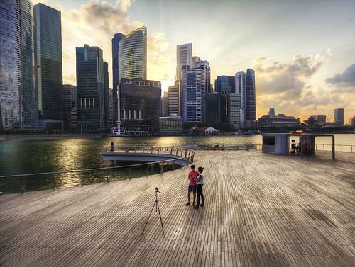 Taking photos in Singapore