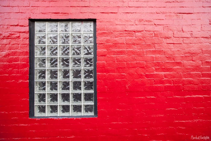 Red with window