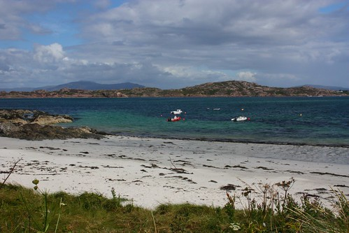 Iona Beach, looking across to Mull