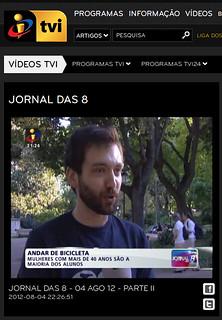 Jornal das 8, TVI, 4/8/2012