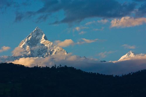 nepal sunset mountain snow landscape 风景 pokhara 日落 fishtail 雪山 尼泊尔 博卡拉 machhapuchhre annapurana 鱼尾峰 安纳布尔纳