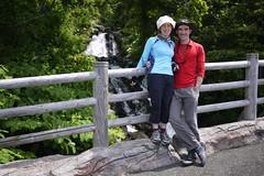 One of many waterfalls to pose beside (Shiretoko, Hokkaido)