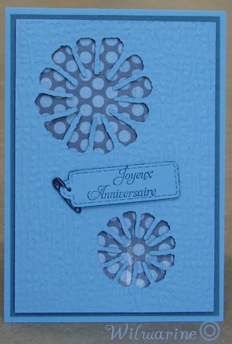 carte anniversaire bleue