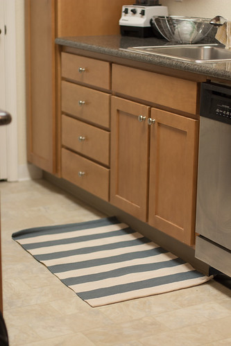 Striped Kitchen Rug