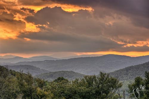 sunset mountains grandfather hdr blueridgeparkway