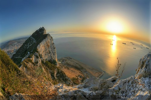 ocean blue sunset sea sky sun nature rock sunrise nikon wildlife med gibraltar hdr d300s nikond300s nicholasferrary