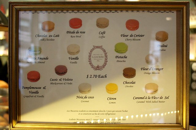 French macaron flavors